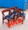 _60s 4x kai kristiansen style danish chairs