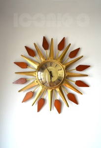 _Anstey Wilson large flower sunburst wall clock