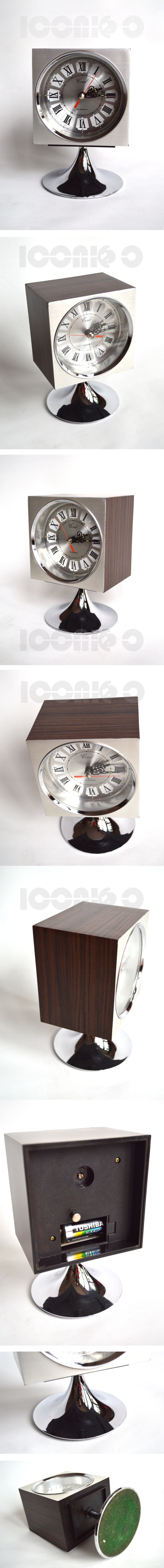 coral-square-chrome-rosewood-silver-effect-pedestal-alarm-clock