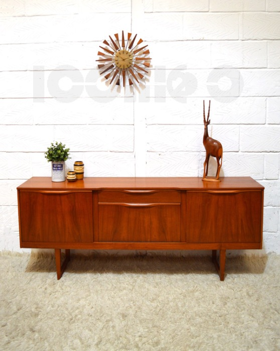 __danish stile teak sideboard elegant handles