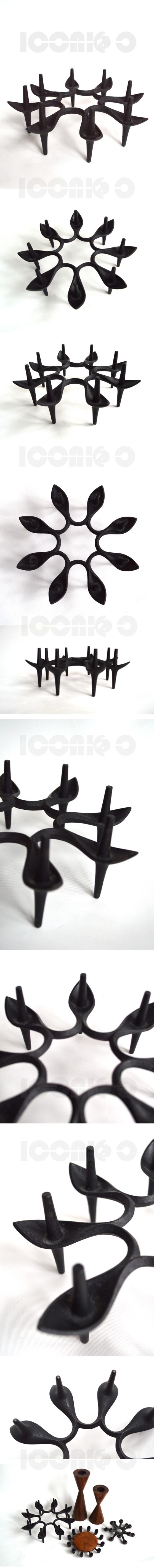 dansk-STARBURST-SPIKE-candle-holder-rare-design