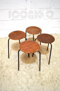__dot plywood tripod stools x 4