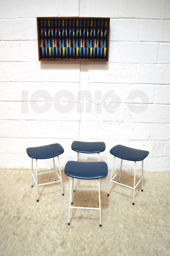 __kandya program stools x4 blue seats frank guille