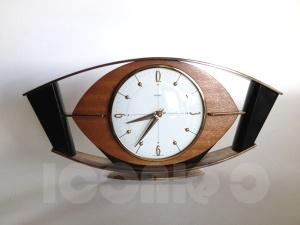 metamec eye ebonized clock 3