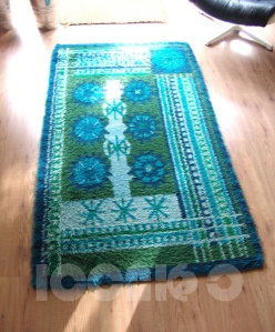 _RYA style danish german rug blue green