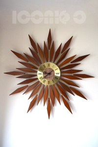 _seth thomas huge sunburst wall clock