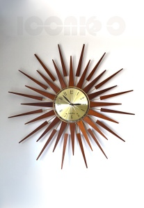 seth thomas large sunburst wall clock