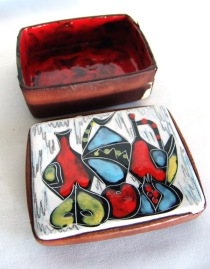 _50s sgrafitto italian ceramic box