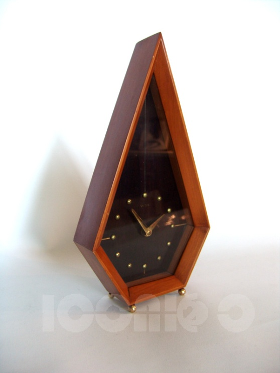 _smiths 60s diamond shape mantel clock