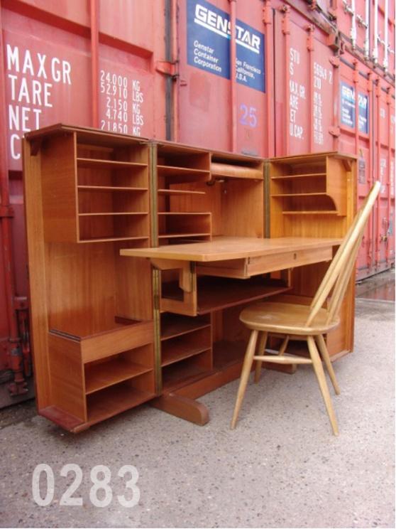 0283 norwegian compact desk cabinet light oak