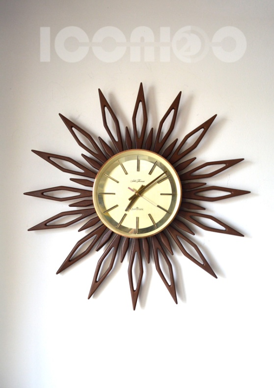 __seth thomas 70s sunburst wall clock