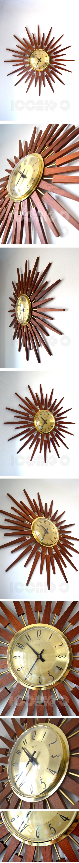 Anstey Wilson large sunburst clock 15_8_15