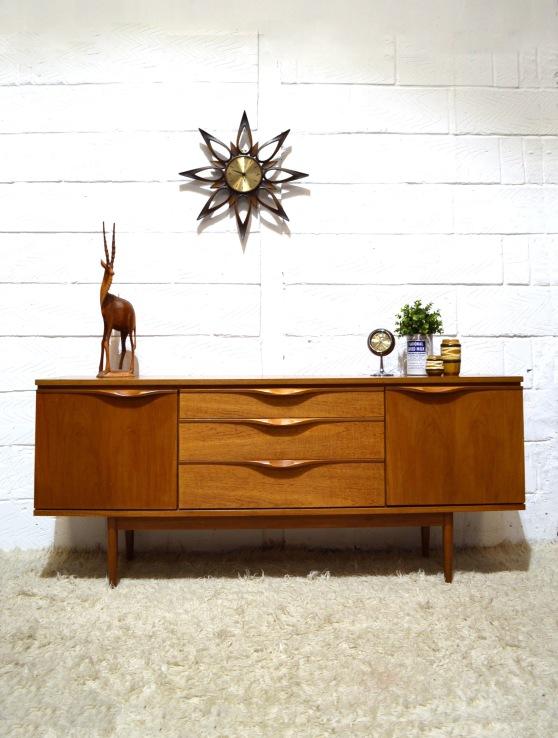 _danish style light teak sideboard