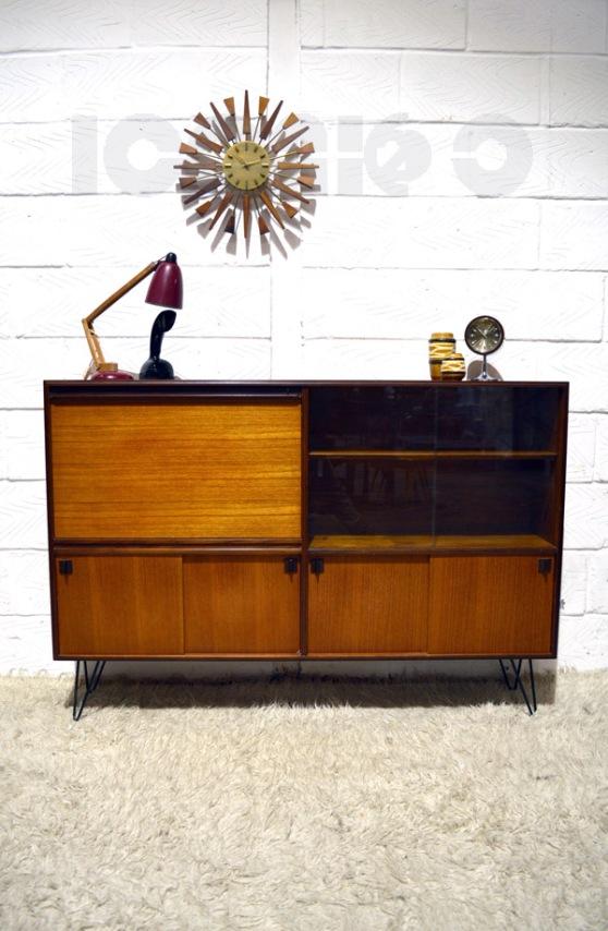 __Robert Heritage Multi_Width bureau bookcase hairpin legs