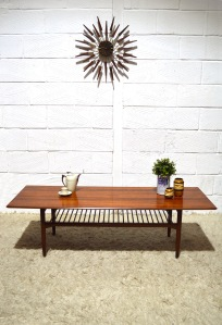 _G Plan Kofod Larsen Danish long coffee table