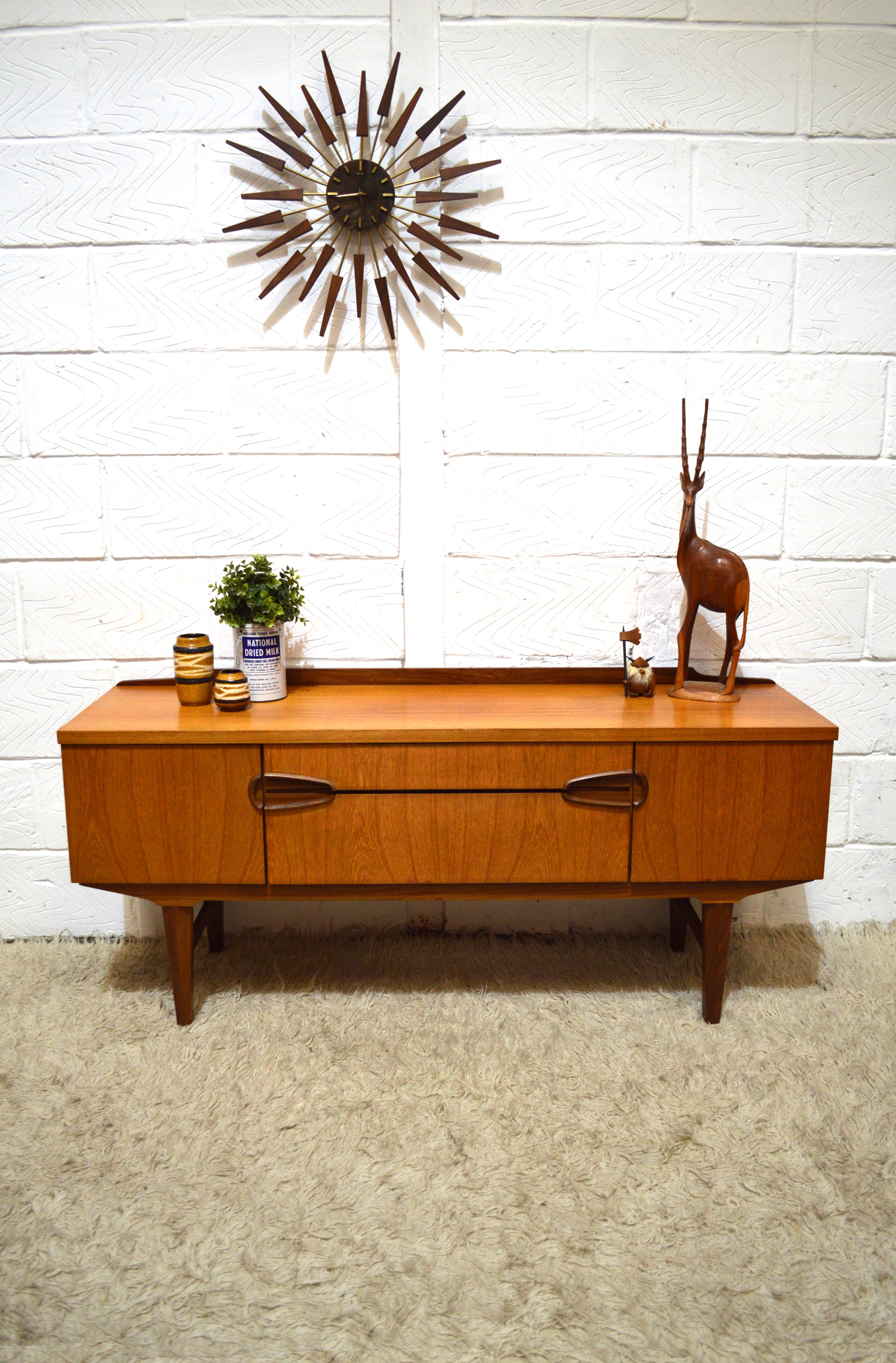 60S 70S FUNKY TEAK LOW SIDEBOARD DRESSING TABLE BY REMPLOY | Iconic 20th  Century, Specialising In Mid Century, Vintage And Other Interesting One Off  Pieces