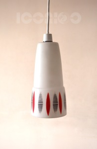 _50s atomic long glass lampshade