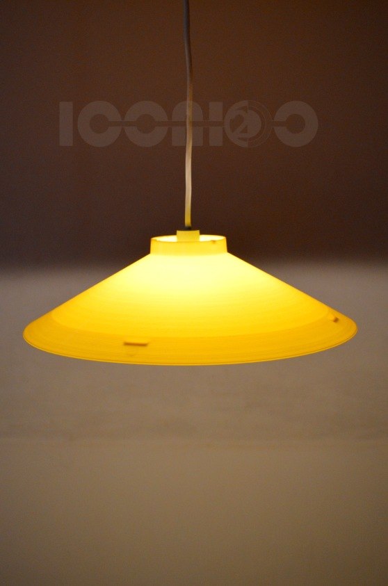 _50s large yellow plastic lampshade