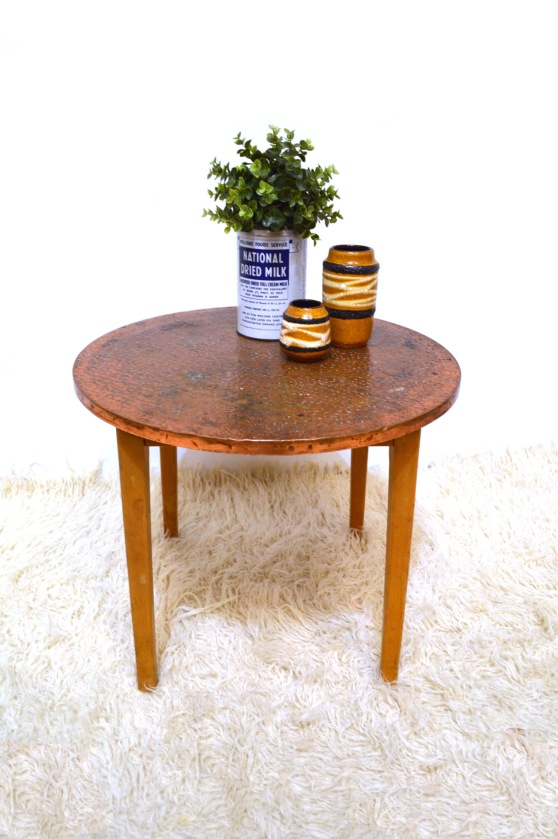_copper top small table