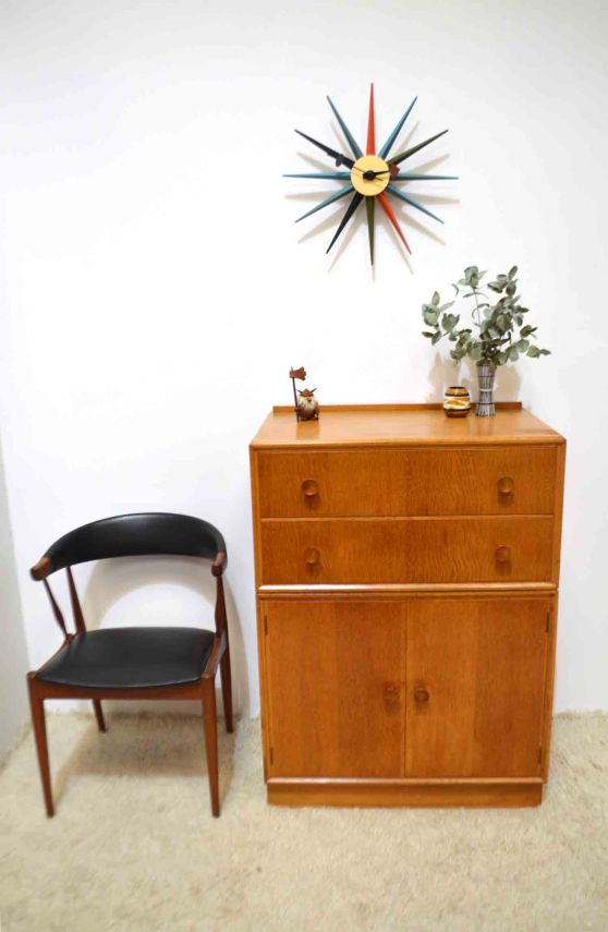 _meredew oak cabinet chest of drawers