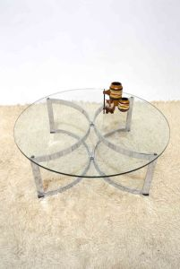 _Merrow Associates Richard Young chrome glass round coffee table