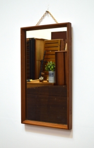 _mirror small teak frame with chain 1
