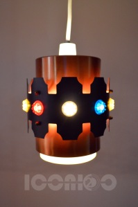 _multicoloured insets small lampshade