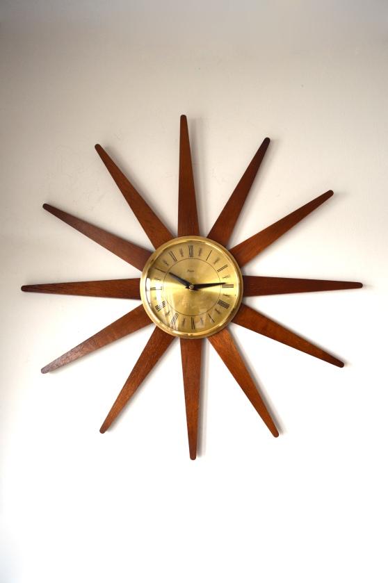 _paico star starburst wall clock