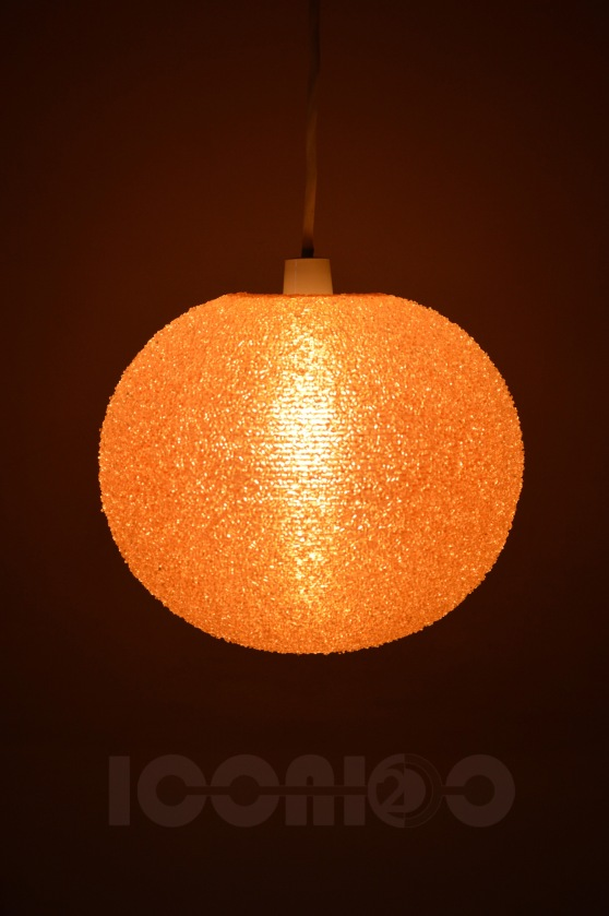_rotaflex christals lampshade small round orange