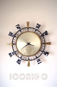 __seth thomas formica wall clock